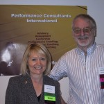 Co-founders of Performance Coach Training Ltd Sir John Whitmore and Carol Wilson
