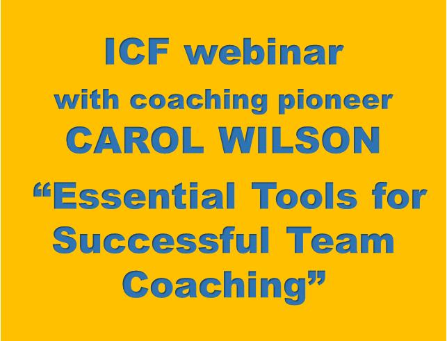 Team coaching podcast ICF coaching webinar